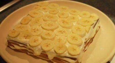 Обалденный торт с бананами без выпечки…